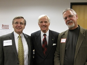 Ohio ACEP's Dr. Tom Lukens [left] and Dr. John Lyman [right] meet with Ohio Supreme Court Justice Terrence O'Donnell in 2012